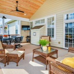 A new outdoor sunroom and three season room by Lynch Design Build