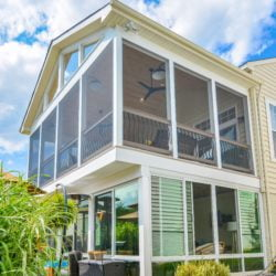 Two story custom sunroom specialty project