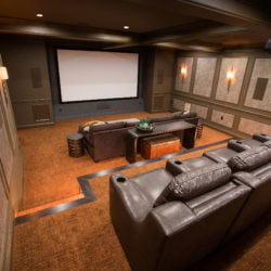 Custom home movie theater specialty project