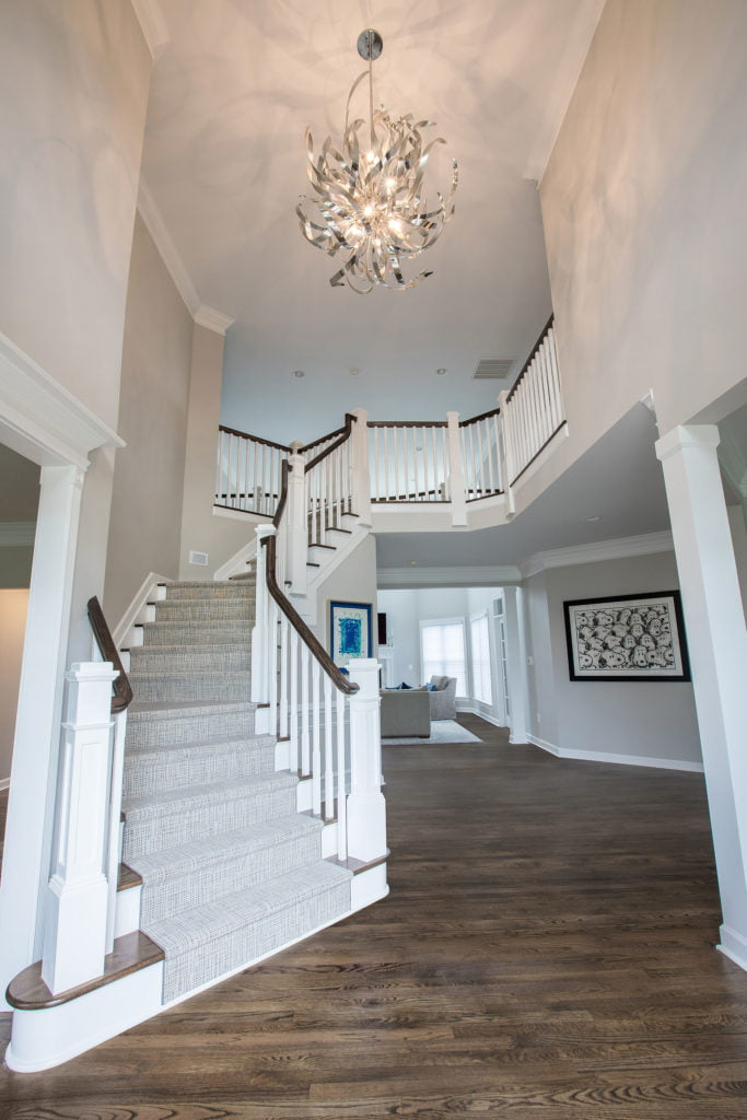 Custom spiral staircase created by lynch design build