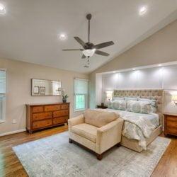 Custom master bedroom remodel by lynch design build