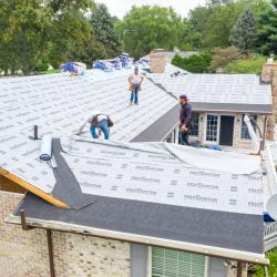 construction process of roofing project