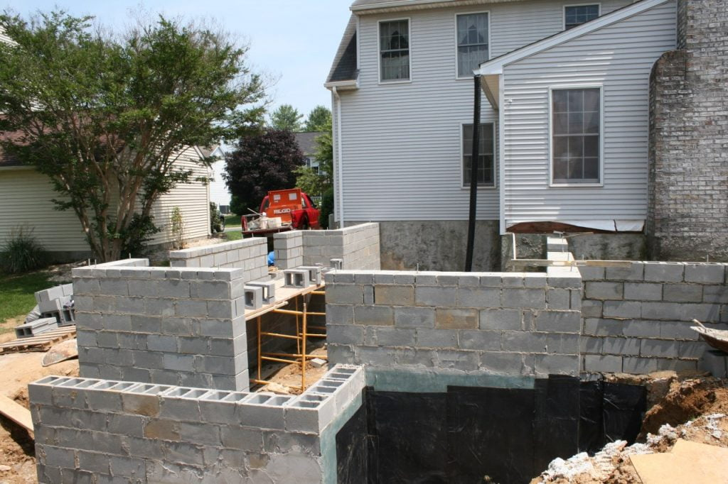 home addition construction in progress